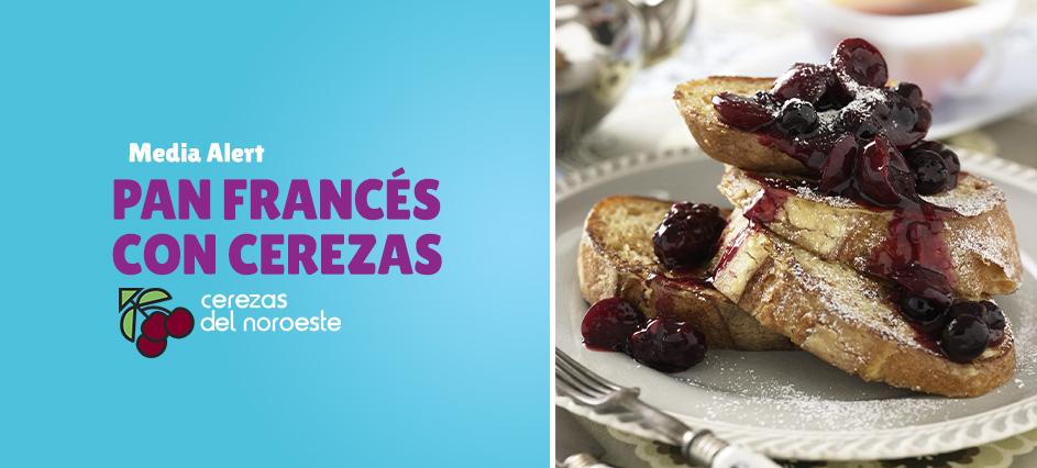 Pan Francés con Cerezas