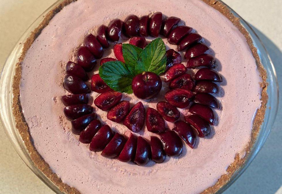Cheesecake Frío de Cerezas por Patricia Gallo
